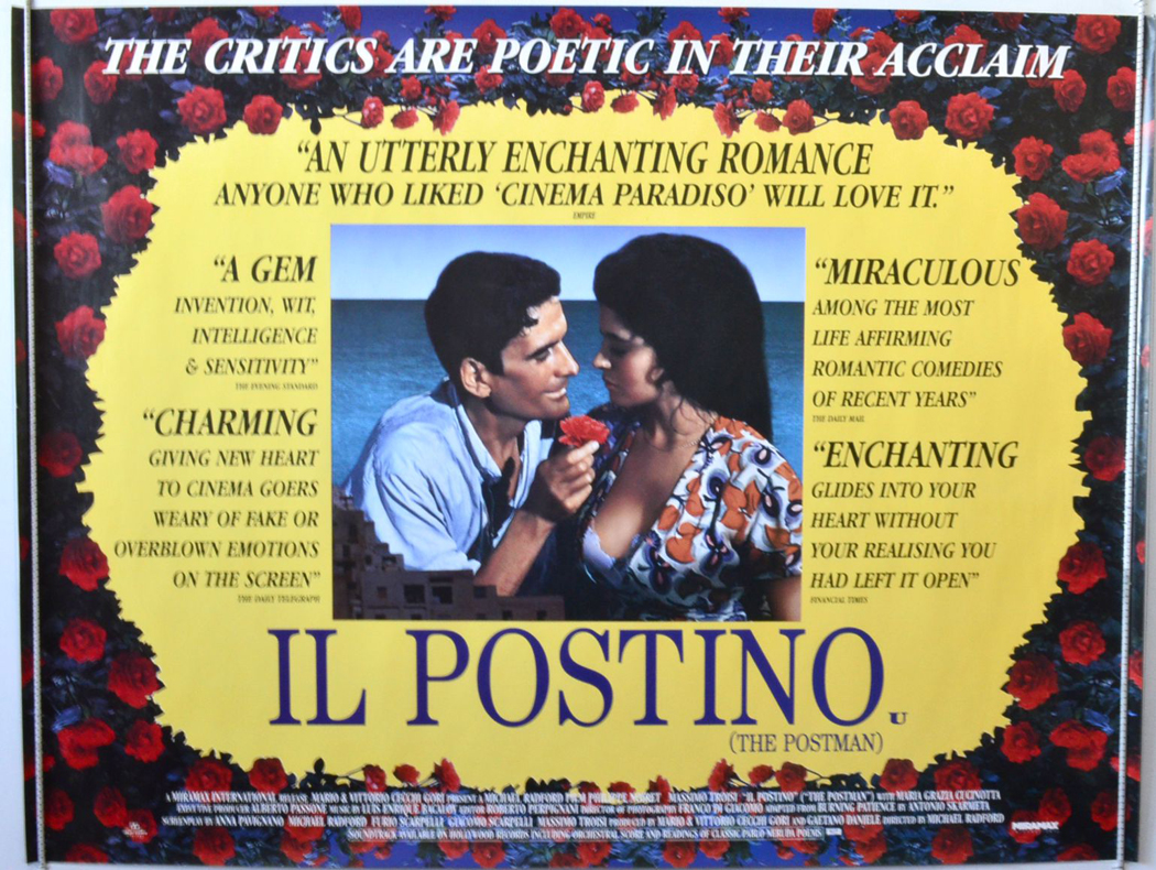 love and friendship in il postino a movie by massimo troisi (massimo troisi) was fated never to know that il postino would receive worldwide acclaim and be nominated for an oscar for best picture in 1995 (the first foreign film nominated in that category.